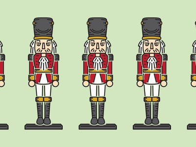 Nutcracker Christmas vector design illustration holiday nutcracker simple design line work poster holidays christmas