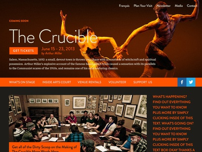 Surprise Web Project ottawa art gallery independent arts organization tickets club saw arts court ottawa website site home page theatre performance show la cour des arts venue rentals hub