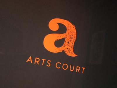 Arts Court Logo branding logo arts court ottawa theatre venue gallery independent arts organizations orange performance arts rebrand neon