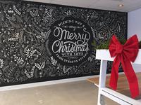 Merry Christmas Chalkboard Wall