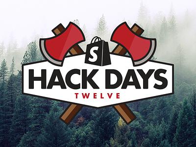 Shopify Hack Days Brand logo brand canada forrest canadian trees axe lumberjack ottawa shopifyhd hackdays shopify