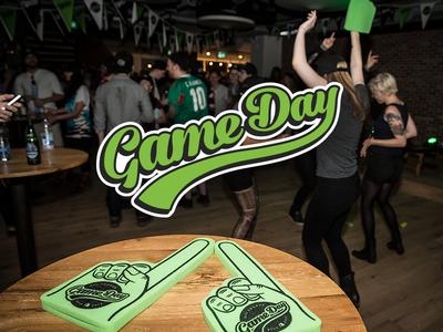 Shopify Game Day Brand brand logo sports baseball ottawa typography wordmark game day party ipo shopify