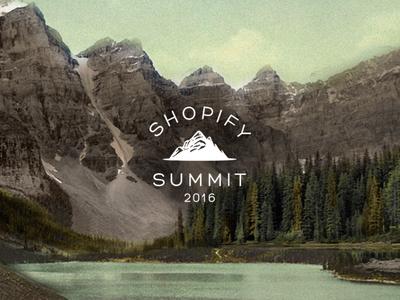 Shopify Summit Brand vintage canada mountains logo identity brand summit shopify