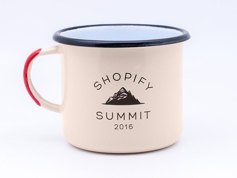 Shopify Summit Enamel Mug mountain mug canadian canada vintage enamel mug summit shopify