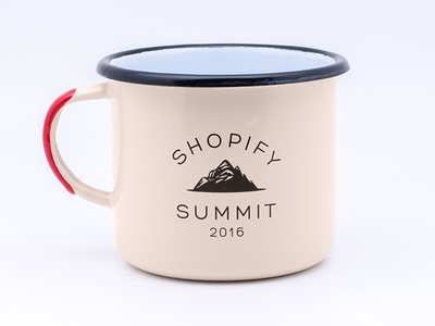 Shopify Summit Enamel Mug mountain mug canadian canada vintage enamel mug summit shopify