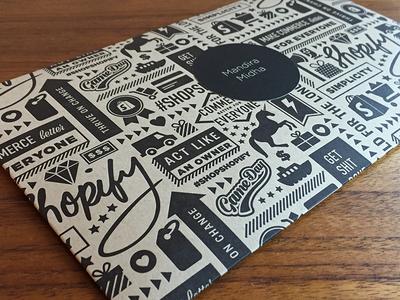 Custom Pattern & Envelope illustration typography christmas gift shop shopify kraft paper letterpress icons pattern