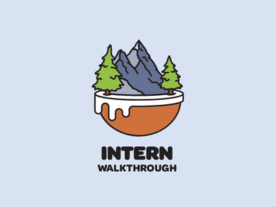 Shopify Walkthrough Brand Concept logo shopify gaming world island mountains trees brand intern walkthrough onboarding