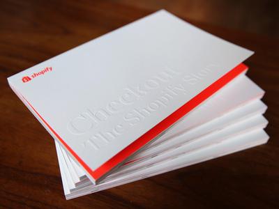 Checkout. The Shopify Story. ottawa shopify handbook employee neon illustration book layout