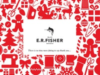E.R. Fisher Menswear 2011 Christmas Card