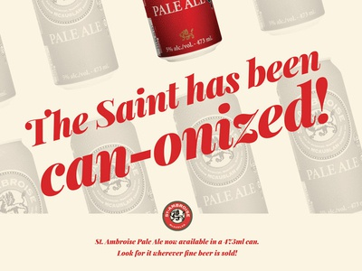 St. Ambroise Ad for Taps Beer Magazine