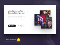 Music App Landingpage