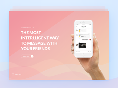 Chat App Landingpage web app ui inspiration uiux webdesign showcase presentation portfolio creative landing
