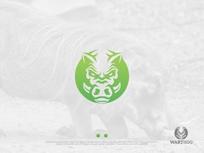 WARTHOG LOGO minimal logo creative design luxury logo logo mark logodesign animal abstract logo minimal logo warthog