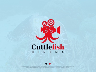 CUTTLE FISH illustration logodesign concept 3d branding graphic design logo maker logo creative logo modern logo abstract logo movielogo movie minimallogo cuttlefish