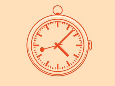 Watch watch illustration time icon lines red