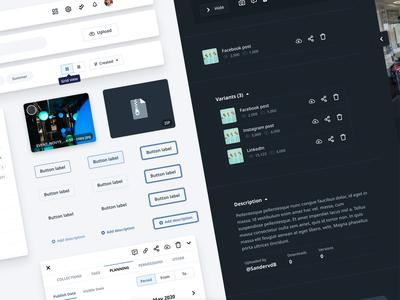Design Tokens - Lytho typography atomic design system design web application webapp patterns library components symbols focus state dark mode animation motion documentation stylekit buttons tokens design system
