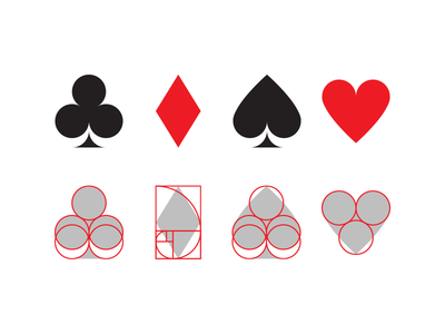Deck of cards cards poker symbols icons game pictograms red