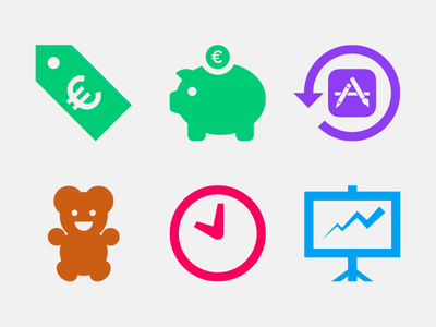 iCulture icons icons iculture apple colorful teddy bear price tag presentation green purple brown pink blue