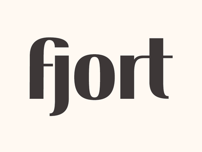 Fjort: a practice in type design typeface font modern