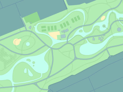 Vondelpark map WIP by Yakim Dribbble