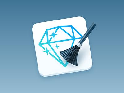 SketchCleaner - Plugin Icon brush skeuomorphism macos icon rename layer name clean sketchcleaner sketchplugin plugin sketch