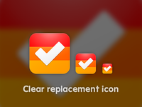 Clear replacement icon