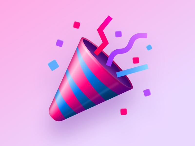 Confetti for Adobe XD – Plugin Icon party popper horn sketch tool confetti extension adobe adobe xd plugin logo app icon icon