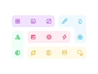 Jollycons - Image Editing Icon Set photo editing image editing colors outline vector iconset icons