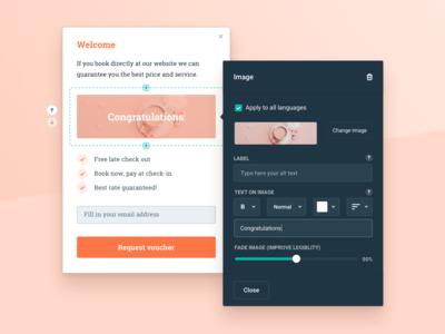 Component Editor - Hotelchamp
