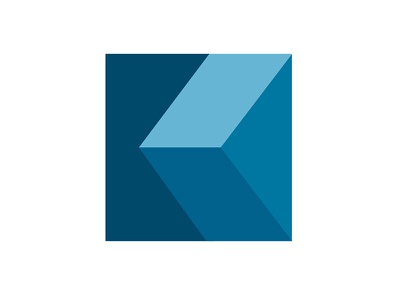 Abstract Kube monogram letter mark geometry symbol square flat design flat 3d logo k cube geometric