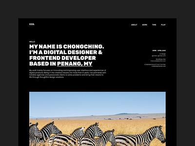 Portfolio website 3.0 dark theme web website homepage design ux ui malaysia