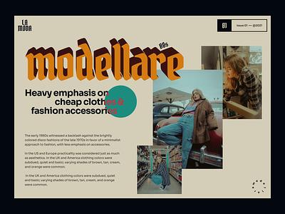 modellare web ui modellare moda 80s uidesign webdesign web design typogaphy ui design artdirection website fashion