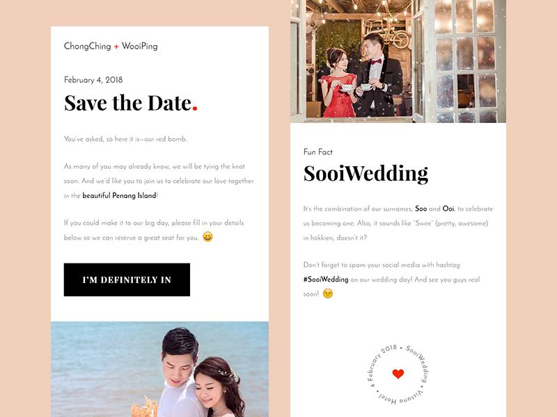SooiWedding RSVP Site malaysia rsvp wedding invitation website design