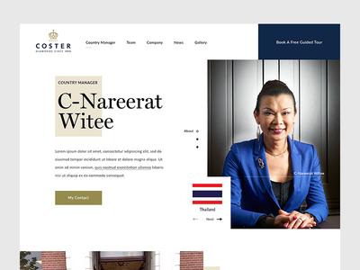 Royal Coster Diamonds Profile clean royal diamond landing homepage malaysia website web ux ui interface