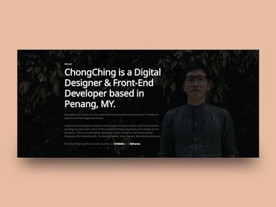 Portfolio Website 2.0 portfolio landing homepage malaysia website web ux ui interface