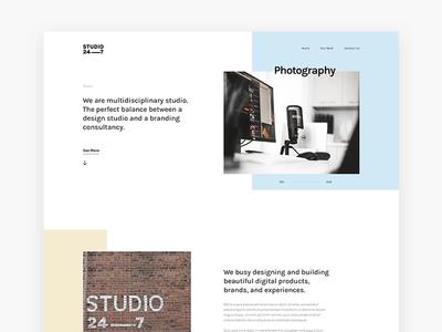 Studio247 pastel studio creative landing homepage malaysia website web ui interface