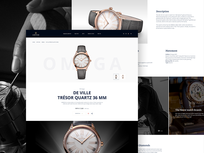 Watch Product Page product watch website web ux ui interface