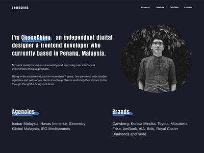 Portfolio Website Concept concept homepage website figma portfolio landing ux design ui malaysia