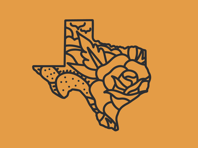 Texas texas tattoo logo vector drawing design illustration