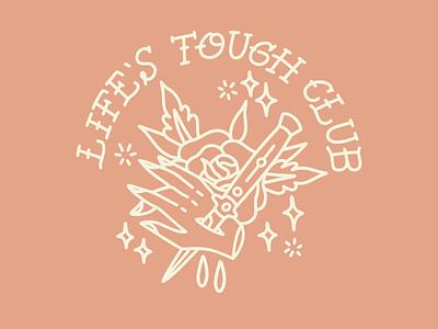 Life's Tough Club tattoo logo vector drawing design illustration