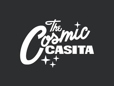 The Cosmic Casita cosmic mid century modern logo drawing vector design illustration