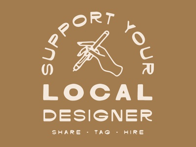 Support Your Local Designer vector drawing design illustration local support artists designers