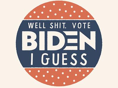 I guess? vector drawing design illustration politics political biden vote