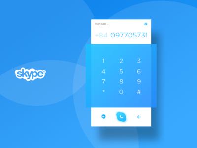 Skype dial pad re-design