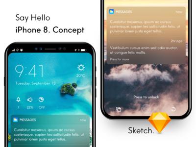 Iphone 8 Concept Mockup ios 12 iphone 8