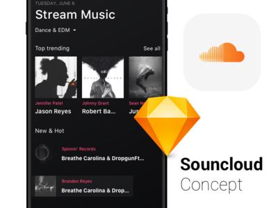 Soundcloud App Concept