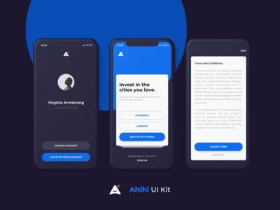 Ahihi UI Kit | Login Screen