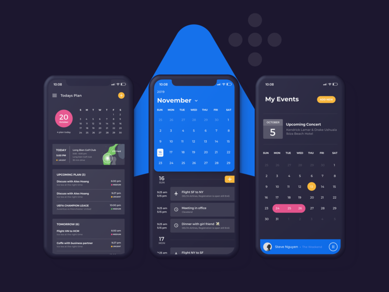 Ahihi UI Kit | Calendar Screen ux uiux uidesign sketch ui uikit calendar