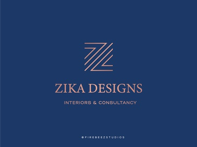 ZIKA Designs Logo Design design branding logo illustration blackonewhitegk firebeez