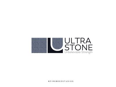 ULTRA STONE Logo Design tileslogo marble stonelogo logo branding illustration blackonewhitegk firebeez